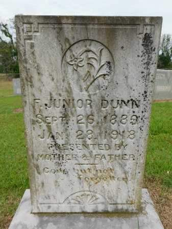 DUNN, F JUNIOR - Calhoun County, Arkansas | F JUNIOR DUNN - Arkansas Gravestone Photos