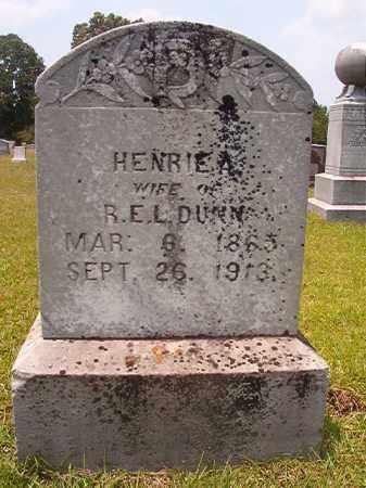 DUNN, HENRIE A - Calhoun County, Arkansas | HENRIE A DUNN - Arkansas Gravestone Photos
