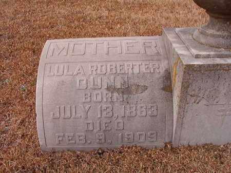 DUNN, LULA ROBERTER - Calhoun County, Arkansas | LULA ROBERTER DUNN - Arkansas Gravestone Photos