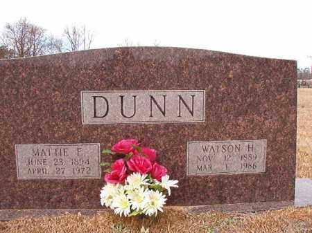 DUNN, MATTIE E - Calhoun County, Arkansas   MATTIE E DUNN - Arkansas Gravestone Photos