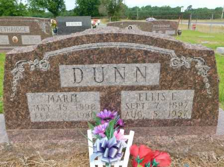 DUNN, ELLIS E - Calhoun County, Arkansas | ELLIS E DUNN - Arkansas Gravestone Photos