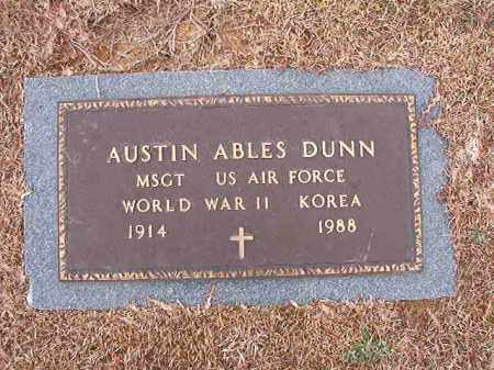 DUNN (VETERAN 2 WARS), AUSTIN ABLES - Calhoun County, Arkansas | AUSTIN ABLES DUNN (VETERAN 2 WARS) - Arkansas Gravestone Photos