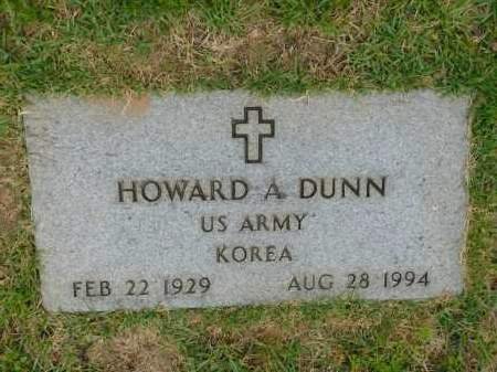 DUNN (VETERAN KOR), HOWARD A - Calhoun County, Arkansas | HOWARD A DUNN (VETERAN KOR) - Arkansas Gravestone Photos