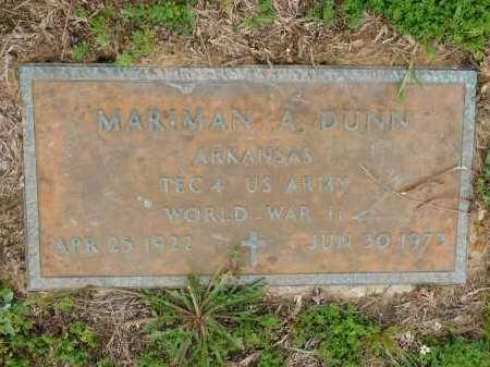 DUNN (VETERAN WWII), MARIMAN ALMA - Calhoun County, Arkansas | MARIMAN ALMA DUNN (VETERAN WWII) - Arkansas Gravestone Photos