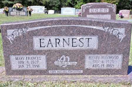 EARNEST, HENRY HAYWOOD - Calhoun County, Arkansas | HENRY HAYWOOD EARNEST - Arkansas Gravestone Photos