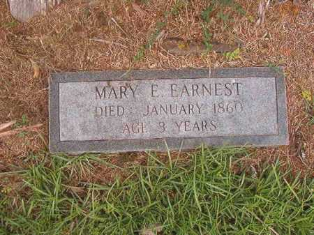 EARNEST, MARY E - Calhoun County, Arkansas | MARY E EARNEST - Arkansas Gravestone Photos