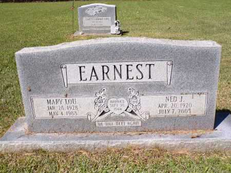 EARNEST, NED J - Calhoun County, Arkansas | NED J EARNEST - Arkansas Gravestone Photos