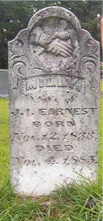 EARNEST, MILLY - Calhoun County, Arkansas | MILLY EARNEST - Arkansas Gravestone Photos