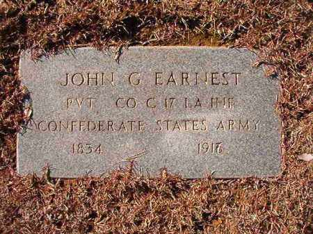 EARNEST (VETERAN CSA), JOHN G - Calhoun County, Arkansas | JOHN G EARNEST (VETERAN CSA) - Arkansas Gravestone Photos