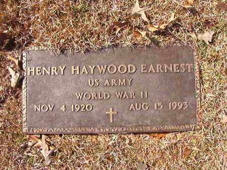 EARNEST (VETERAN WWII), HENRY HAYWOOD - Calhoun County, Arkansas | HENRY HAYWOOD EARNEST (VETERAN WWII) - Arkansas Gravestone Photos