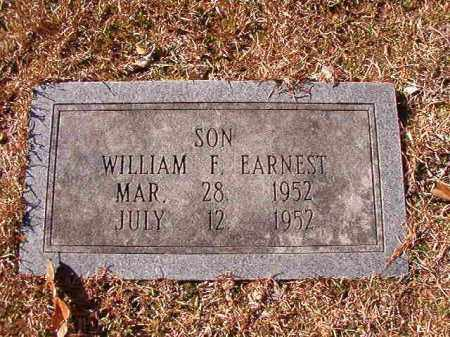 EARNEST, WILLIAM F - Calhoun County, Arkansas | WILLIAM F EARNEST - Arkansas Gravestone Photos