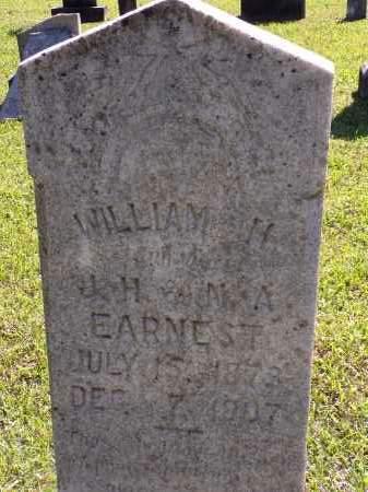 EARNEST, WILLIAM H - Calhoun County, Arkansas | WILLIAM H EARNEST - Arkansas Gravestone Photos