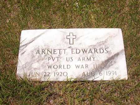 EDWARDS (VETERAN WWII), ARNETT - Calhoun County, Arkansas | ARNETT EDWARDS (VETERAN WWII) - Arkansas Gravestone Photos