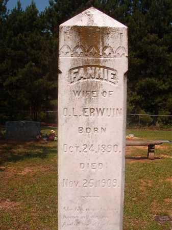 ERWUIN, FANNIE - Calhoun County, Arkansas | FANNIE ERWUIN - Arkansas Gravestone Photos
