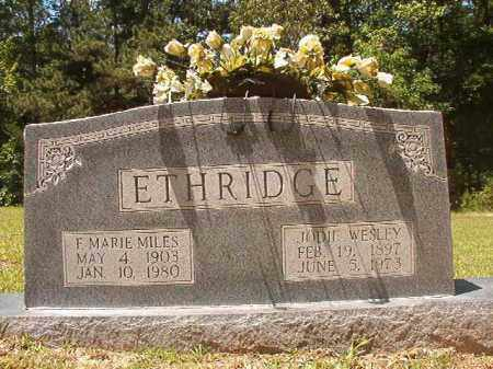 MILES ETHRIDGE, F MARIE - Calhoun County, Arkansas | F MARIE MILES ETHRIDGE - Arkansas Gravestone Photos