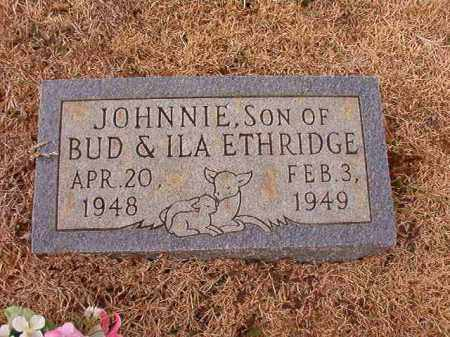 ETHRIDGE, JOHNNIE - Calhoun County, Arkansas | JOHNNIE ETHRIDGE - Arkansas Gravestone Photos