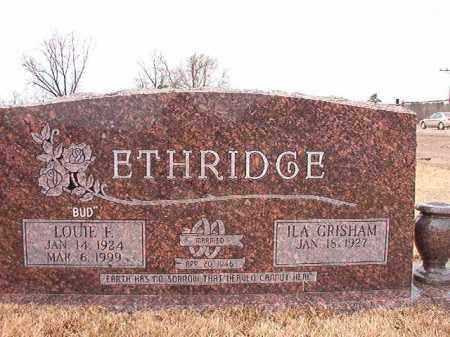 ETHRIDGE, LOUIE FURZELL - Calhoun County, Arkansas | LOUIE FURZELL ETHRIDGE - Arkansas Gravestone Photos