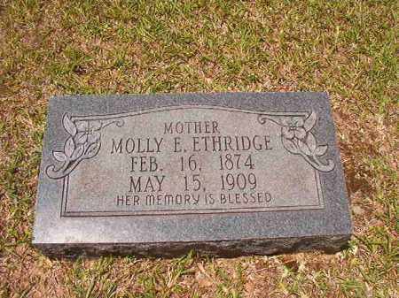 ETHRIDGE, MOLLY E - Calhoun County, Arkansas | MOLLY E ETHRIDGE - Arkansas Gravestone Photos