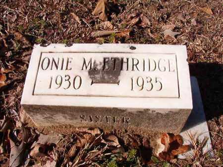 ETHRIDGE, ONIE M - Calhoun County, Arkansas | ONIE M ETHRIDGE - Arkansas Gravestone Photos