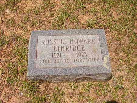 ETHRIDGE, RUSSELL HOWARD - Calhoun County, Arkansas | RUSSELL HOWARD ETHRIDGE - Arkansas Gravestone Photos