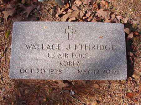 ETHRIDGE (VETERAN KOR), WALLACE J - Calhoun County, Arkansas | WALLACE J ETHRIDGE (VETERAN KOR) - Arkansas Gravestone Photos