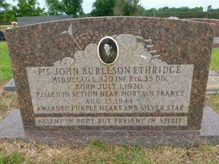 ETHRIDGE (VETERAN WWII KIA), JOHN BURLESON - Calhoun County, Arkansas | JOHN BURLESON ETHRIDGE (VETERAN WWII KIA) - Arkansas Gravestone Photos