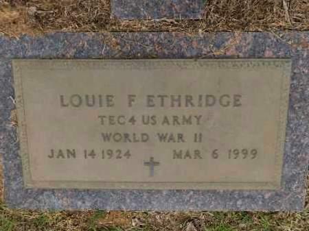 ETHRIDGE (VETERAN WWII), LOUIE F - Calhoun County, Arkansas | LOUIE F ETHRIDGE (VETERAN WWII) - Arkansas Gravestone Photos