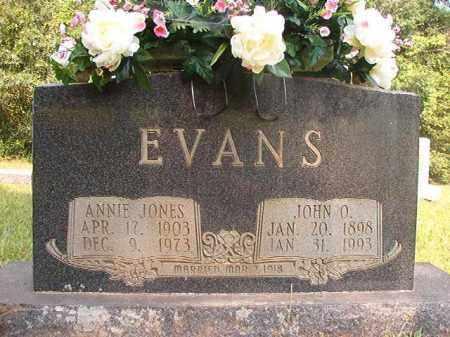 JONES EVANS, ANNIE - Calhoun County, Arkansas | ANNIE JONES EVANS - Arkansas Gravestone Photos
