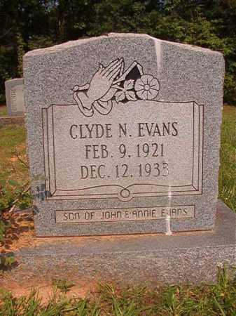 EVANS, CLYDE N - Calhoun County, Arkansas | CLYDE N EVANS - Arkansas Gravestone Photos