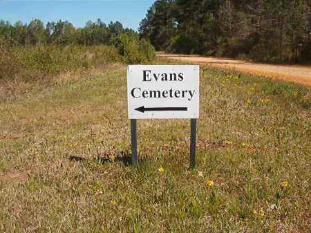 *EVANS CEMETERY SIGN,  - Calhoun County, Arkansas |  *EVANS CEMETERY SIGN - Arkansas Gravestone Photos