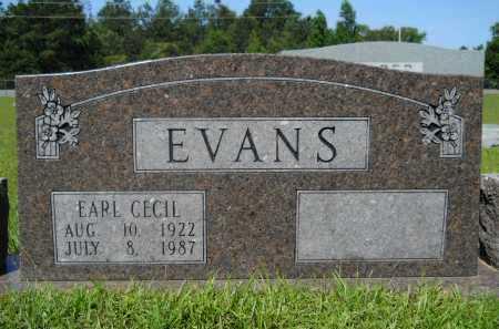 EVANS, EARL CECIL - Calhoun County, Arkansas | EARL CECIL EVANS - Arkansas Gravestone Photos