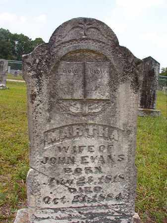 EVANS, MARTHA - Calhoun County, Arkansas | MARTHA EVANS - Arkansas Gravestone Photos
