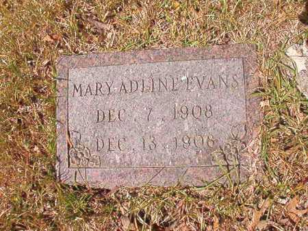 EVANS, MARY ADLINE - Calhoun County, Arkansas | MARY ADLINE EVANS - Arkansas Gravestone Photos