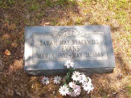BLACKWELL EVANS, SARAH MAE - Calhoun County, Arkansas | SARAH MAE BLACKWELL EVANS - Arkansas Gravestone Photos