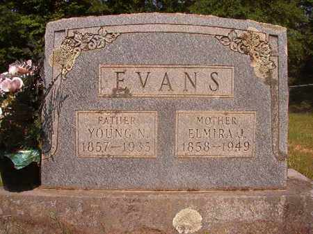 EVANS, YOUNG N - Calhoun County, Arkansas | YOUNG N EVANS - Arkansas Gravestone Photos