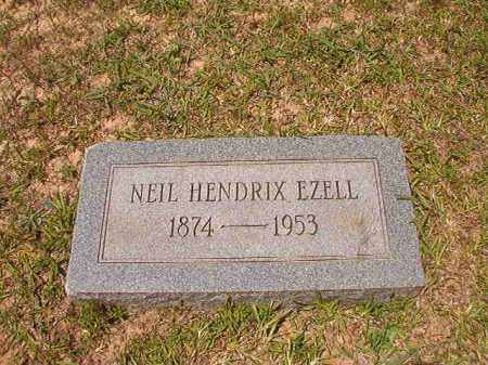 EZELL, NEIL HENDRIX - Calhoun County, Arkansas   NEIL HENDRIX EZELL - Arkansas Gravestone Photos