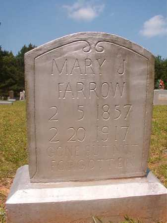 FARROW, MARY J - Calhoun County, Arkansas | MARY J FARROW - Arkansas Gravestone Photos