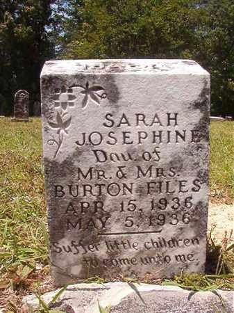 FILES, SARAH JOSEPHINE - Calhoun County, Arkansas | SARAH JOSEPHINE FILES - Arkansas Gravestone Photos