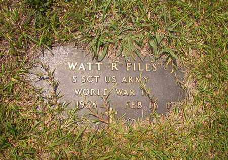FILES (VETERAN WWII), WATT R - Calhoun County, Arkansas | WATT R FILES (VETERAN WWII) - Arkansas Gravestone Photos