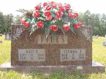 FILES, WATT R - Calhoun County, Arkansas | WATT R FILES - Arkansas Gravestone Photos