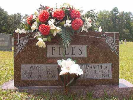 FILES, ELIZABETH A - Calhoun County, Arkansas | ELIZABETH A FILES - Arkansas Gravestone Photos