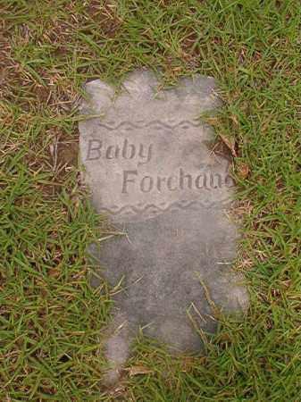 FOREHAND, BABY - Calhoun County, Arkansas | BABY FOREHAND - Arkansas Gravestone Photos