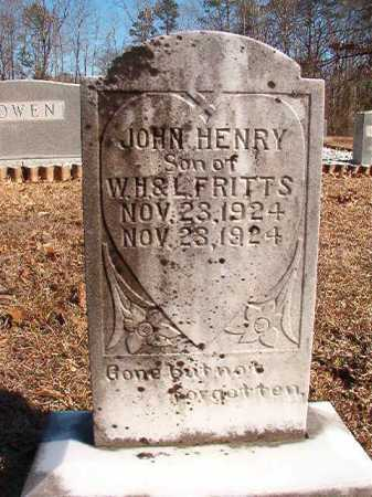 FRITTS, JOHN HENRY - Calhoun County, Arkansas | JOHN HENRY FRITTS - Arkansas Gravestone Photos