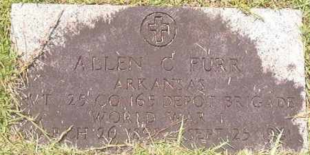 FURR (VETERAN WWI), ALLEN C - Calhoun County, Arkansas | ALLEN C FURR (VETERAN WWI) - Arkansas Gravestone Photos