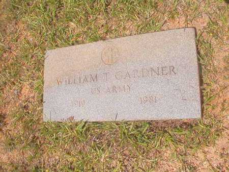 GARDNER (VETERAN), WILLIAM T - Calhoun County, Arkansas | WILLIAM T GARDNER (VETERAN) - Arkansas Gravestone Photos