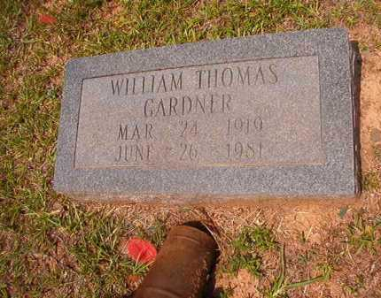 GARDNER, WILLIAM THOMAS - Calhoun County, Arkansas | WILLIAM THOMAS GARDNER - Arkansas Gravestone Photos
