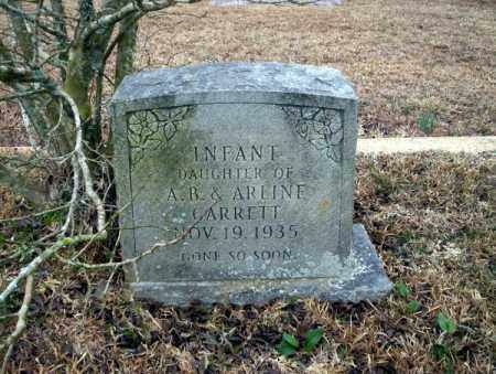 GARRETT, INFANT DAUGHTER - Calhoun County, Arkansas | INFANT DAUGHTER GARRETT - Arkansas Gravestone Photos