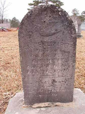 GARRETT, SALLIE ELIZABETH - Calhoun County, Arkansas | SALLIE ELIZABETH GARRETT - Arkansas Gravestone Photos