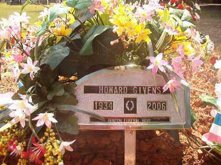 GIVENS, HOWARD - Calhoun County, Arkansas   HOWARD GIVENS - Arkansas Gravestone Photos