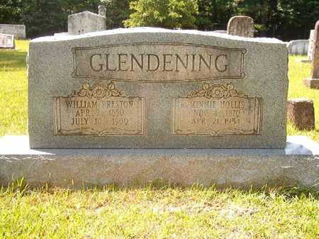 HOLLIS GLENDENING, MINNIE - Calhoun County, Arkansas | MINNIE HOLLIS GLENDENING - Arkansas Gravestone Photos